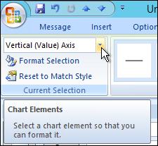 Chart Elements dropdown