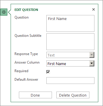 The form properties dialog box