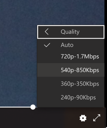 Video quality settings in Microsoft Teams Live events