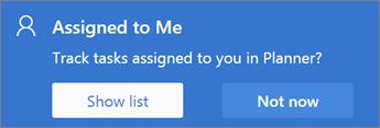 Screenshot of Assigned to Me dialog box