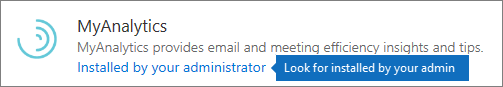 An admin installed add-in in Outlook store.