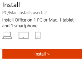 Shows the number of installations and the Install button