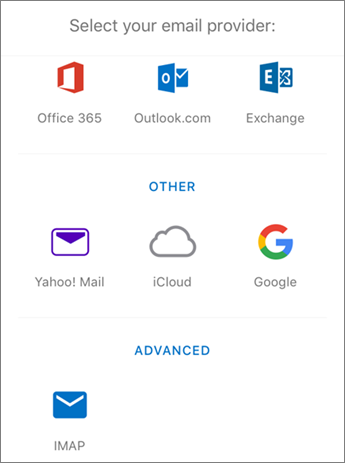 Setup IMAP email in Outlook for iOS Step 4