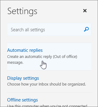 Screenshot of Help screen with Auto reply selected.