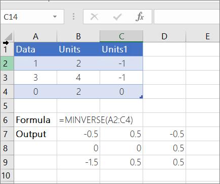 Example 2 - MINVERSE