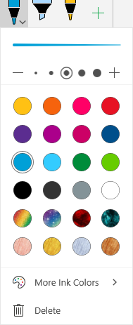 Ink colors and effects for drawing with ink in Office on Windows Mobile