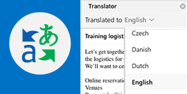 Read Outlook email in your preferred language