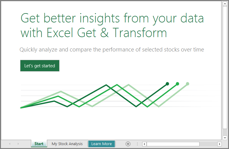 Learn how to use the Stock Analysis template with Excel 2016 -