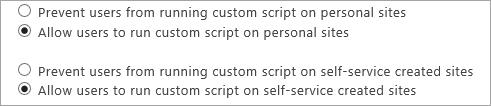 Allow options in Custom Script