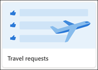 Travel requests list template