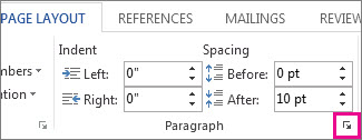 How to get to all paragraph options
