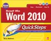 Cover of Microsoft Office Word 2010 QuickSteps