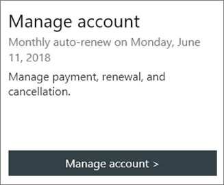 You can see the date the subscription auto-renews in the Manage Account section.