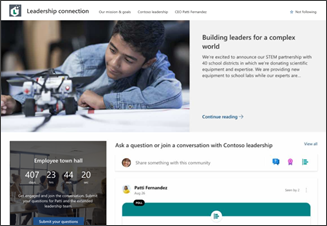 Image of the leadership site template