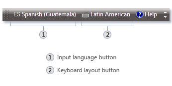 Picture of the Language bar
