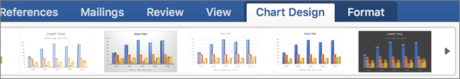 Click the Chart Design tab, and then click a chart style
