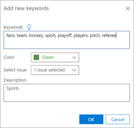 Add new keywords