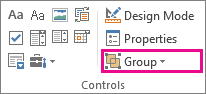 developer mode group button