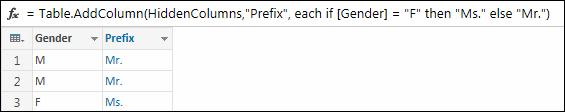 Example formula