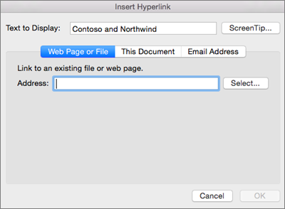 Create or edit a hyperlink in Office for Mac - Office Support