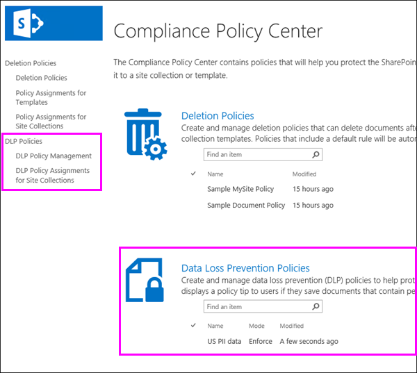 Compliance Policy Center