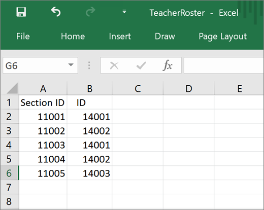 Minimum required attributes for TeacherRoster.csv file