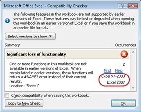 Use Excel with earlier versions of Excel - Excel