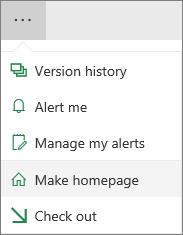Make homepage menu item
