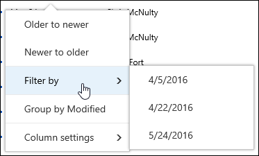 Filter document library view in Office 365