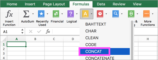 CONCAT and TEXTJOIN functions available in Excel.