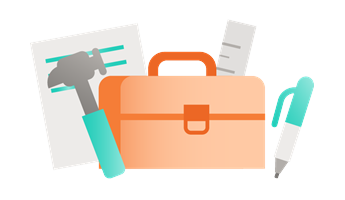 Illustration of toolbox