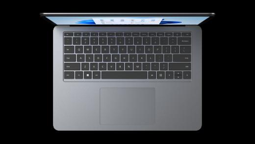 Large haptic touchpad on Surface Laptop Studio