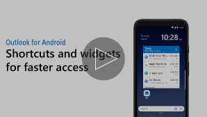 Thumbnail for Widgets and shortcuts video - click to play