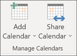 Share your calendar with another person.