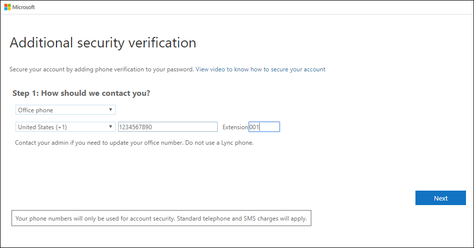 Set up your office phone as a verification method