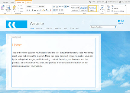 SharePoint Online Public Website page editing