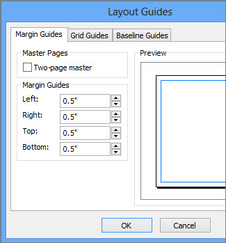 Set page margins for printing using Publisher - Publisher
