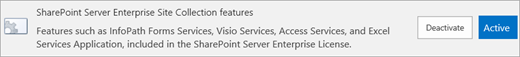 Activate SharePoint Server Enterprise Site Collection features