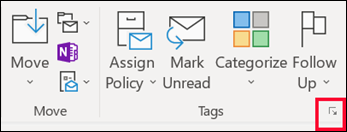 Click message options to set an importance level.