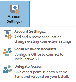 Screenshot of adding delegate in outlook