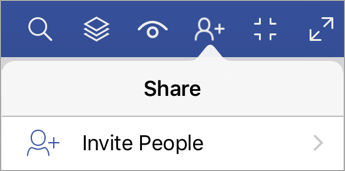 Invite People option in Visio Viewer for iPad