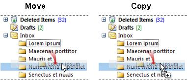 Copy or drag folders in the Navigation Pane