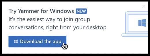In-product messaging for Windows