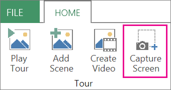 Capture Screen on the Home tab