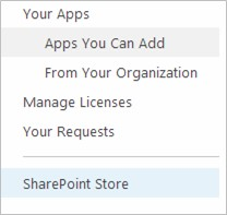 Choose SharePoint Store.
