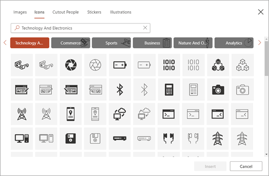 Select an icon.