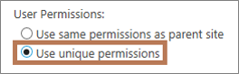 Setting unique permissions on a subsite