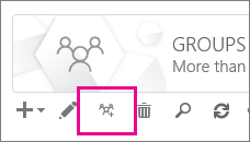 Click or tap the Upgrade to Office 365 groups icon