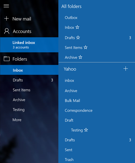Add new folders with linked inboxes