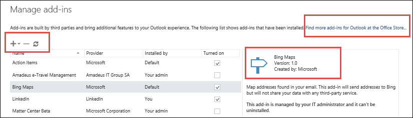 Get an Office Add-in for Outlook - Office Support